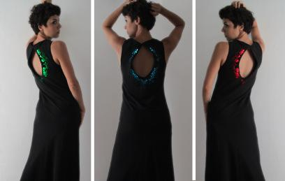 Elizabeth Fraguada's LED-inspired dress is just one garment in a line of light-infused clothing.
