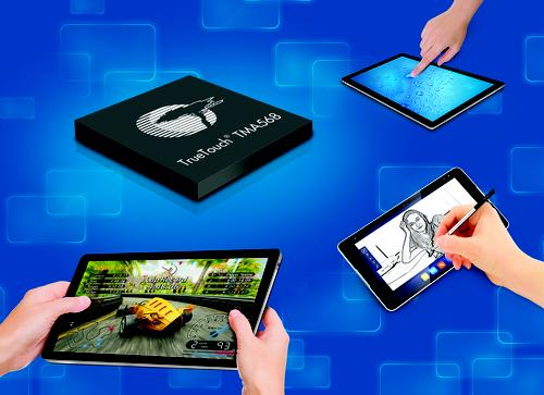 Cypress Semiconductor's TrueTouch TMA568 enables tablet users to get active-type stylus performance with a passive stylus. It's being targeted at such devices as superphones, e-readers, and tablets. (Source: Cypress Semiconductor)