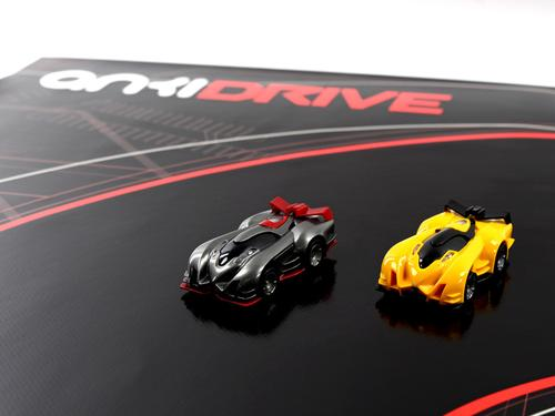 The Anki Drive system of smartphone-controlled cars uses a specialty mat developed by Anki, a tech startup aiming to bring artificial intelligence and adaptability to objects in the physical world. This is its first offering.