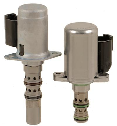 Pilot-operated TS98-T34 and direct-acting EHPR98-T38 cartridge valves each offer unique advantages for transmission control.   (Source: HydraForce)