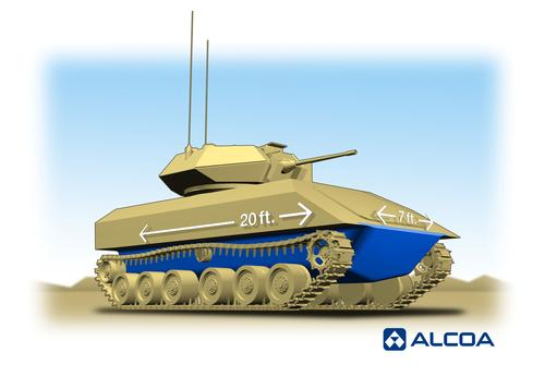 The US Army Research Lab and Alcoa Defense are developing a single-piece forged aluminum tank hull designed to protect soldiers and ground combat vehicles from Improvised Explosive Devices (IEDs).   (Source: Alcoa)