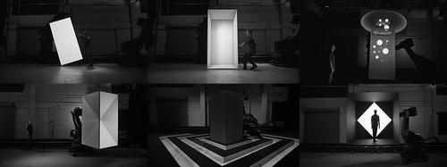 'Box,' a robotic art installation from the firm Bot & Dolly, 'explores the synthesis of real and digital space through projection-mapping on moving surfaces,' according to the company's website, which also features a short film showing a live performance of the project. The effect was achieved by attaching two large-scale flat panels to robotic arms and using video projections, as well as the firm's Maya software. The project combines a number of technology disciplines, including large-scale robotics, project mapping, and software engineering.   (Source: Bot & Dolly)