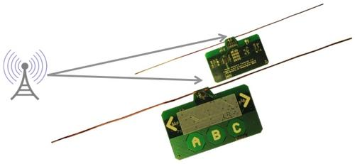 University of Washington's Ambient Backscatter device is equipped with an antenna that picks up broadcast signals from TV or cellular sources and converts them into hundreds of microwatts of electrical power.   (Source: University of Washington)
