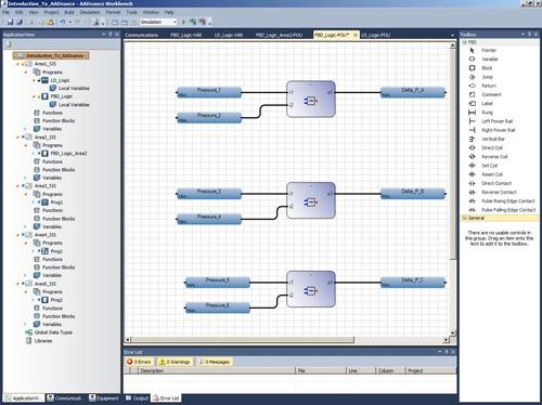 A screenshot from the AADvance Workbench 2.0, a complete design, configuration, and maintenance software environment that helps enable companies to protect people, equipment, and the environment by ensuring safe and continuous operation, according to Rockwell Automation, which plans to offer the software early next year.   (Source: Rockwell Automation)