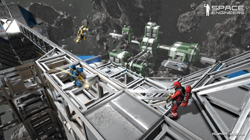 A screenshot from the alpha version of Space Engineers.(Source: Space Engineers)