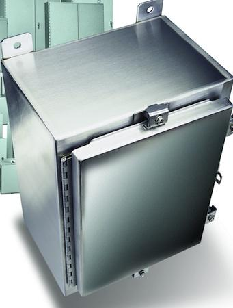 Figure 1: NEMA enclosures are usually constructed of carbon steel, stainless steel, or plastic and come in a variety of sizes and shapes.