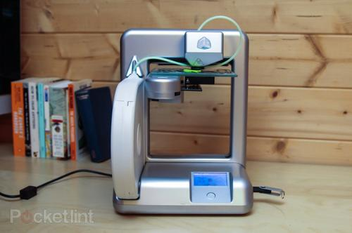 The Cubify Cube is a tiny 3D printer.