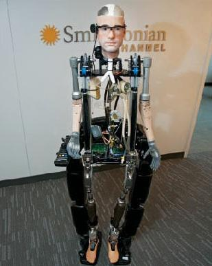 The Bionic Man -- an idea spawned by TV production company Darlow Smithson Productions and built by Shadow Robot Company, both in London -- is the product of an effort to recreate as human a machine as possible out of artificial body parts.  (Source: The Smithsonian Channel)