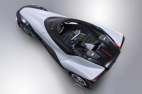 Nissan's BladeGlider concept car is 3.3 feet wide at the front wheels and six feet wide at the rear.   (Source: Nissan Motor Co.)