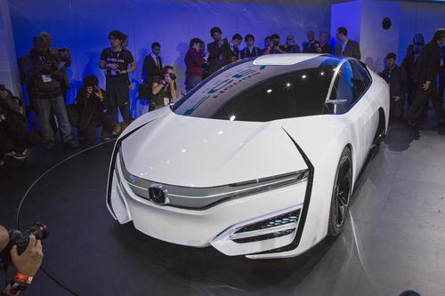 The introduction of Honda's FCEV Concept drew crowds at the recent Los Angeles Auto Show.   (Source: Honda Motor Co.)