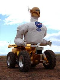 The upper body of the Robonaut was developed to perform tasks similar to those of a human.   (Source: NASA)