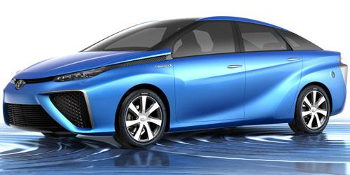 At this year's Tokyo Motor Show, Toyota unveiled the FCV Concept, which it says will be a close representation of the fuel cell production vehicle due out in 2015.   (Source: Toyota)