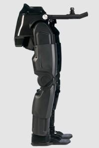 Rex Bionics has developed a robotic leg system that provides people bound to a wheelchair the ability to stand up and walk unaided by crutches or braces. The system includes 29 onboard computer processors that control movement and balance through joystick control, allowing the Rex user to direct the device to sit, stand, walk, and turn easily. The robotic legs can even walk up steps and up or down slopes.  (Source: Rex Bionics)
