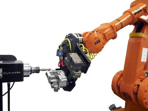 The software allows robots to handle process variations in a more similar way to humans, according to the company, by giving them an ability to react to their surroundings and change their programmed speed or path.   (Source: ABB Technology)