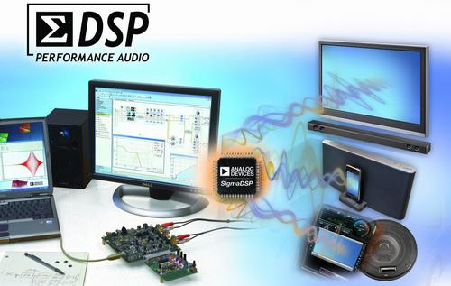 Analog Devices' ADAU1452 SigmaDSP processor enables an audio system to execute up to three times more processing algorithms.   (Source: Analog Devices Inc.)