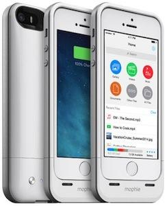 The space pack adds extra storage for your iPhone 5/5s.   (Source: Mophie)