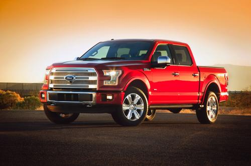 Ford's new F-150 pickup uses an aluminum alloy body atop a high-strength steel frame.   (Source: Ford Motor Co.)