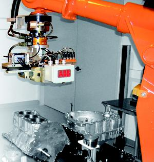 ABB's newest manufacturing robot can sense its environment and apply pressure according to its function and surroundings.  (Source: ABB Robotics)