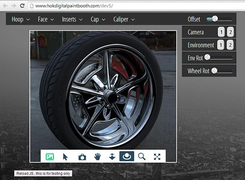 This wheel configurator helps users visualize their customized purchases from a browser.