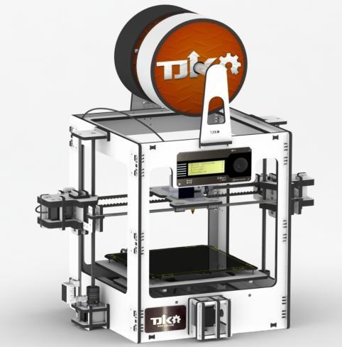 A white version of the Snap3D printer.(Source: www.tjiko.com/)