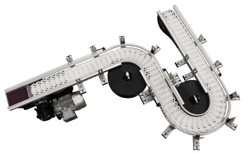 The new SmartFlex 2200 Series from Dorner is a flexible, high-performance, modular table-top chain conveyor. It's ideal for part handling, tight spaces, buffering, accumulation, and elevation changes. And with Dorner's quick delivery time, the conveyor can be shipped pre-assembled in only five working days.   (Source: Dorner)