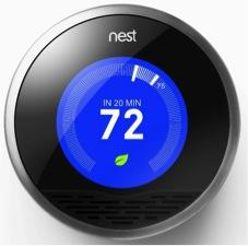 Nest has engineered an easy-to-install, energy-saving home thermostat. This device learns your daily routine and automatically adapts its settings to suit your heating preferences throughout the day. All you have to do is alter the thermostat to your particular needs, and the Nest will develop a personalized heating schedule. You can alter this schedule at any time should your preferences change. What's more, a special Leaf feature informs you of the most energy-efficient temperatures for your home. A handy Auto-Away option ensures that your heating is turned off when you leave. Irrespective of your living arrangements, the Nest is a thermostat that adapts to your every need. It saves you energy while offering you optimum heating comfort.