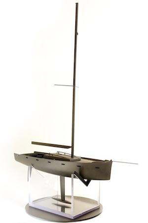 CRP Technology has 3D-printed a 1:14 scale model of a yacht in carbon fiber composites in order to demonstrate the possibilities of the material used with its selective laser sintering 3D printing process and to give a boost to boat design.  (Source: CRP Technology)