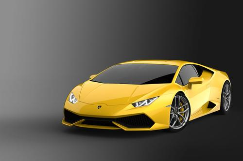 Lamborghini's Huracan LP 610-4 luxury sports car zips from 0-100 kph in a scant 3.2 seconds. It features a 5.2-liter V-10 engine that produces 610 HP at 8,250 rpm and 413 lb-ft of torque at 6,500 rpm. Combining carbon fiber and aluminum components, it weighs in at about 3,100 lbs. Features include a 12.3-inch TFT instrument cluster and adaptive suspension.   (Source: Lamborghini)