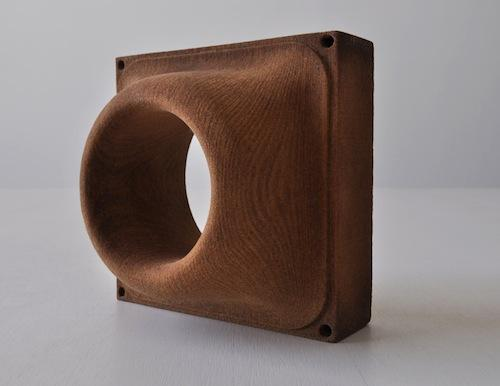 Architectural design firm Emerging Objects, like several other companies, claims to have invented 3D printing with wood. Theirs, they say, is a strong and rigid material, which seems to be true judging by photos of objects made with it, like this architectural wood-block element. It was invented as an alternate building material.  (Source: Emerging Objects)