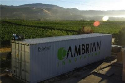 Boston-based Cambrian Innovation has developed a solution called EcoVolt that uses bioelectrochemistry to treat wastewater so it can be turned into electricity. The company is targeting the beverage industry to convert waste from making beer and wine into energy breweries and wineries can use to run their operations.   (Source: Cambrian)
