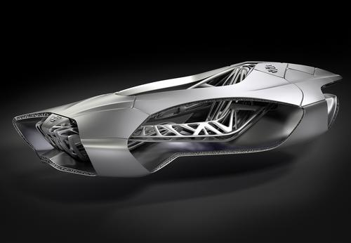 German engineering firm EDAG Group showed a single-piece, 3D-printed car body design inspired by a turtle, at the Geneva Motor Show. 