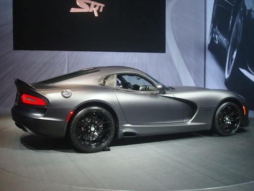The SRT Viper GTS Anodized Carbon Edition (to be limited to 50 cars) features the first matte finish paint offered by the company. Only 10 will be made with the Time Attack Group performance package; SRT says they will be the among the rarest Vipers ever created.