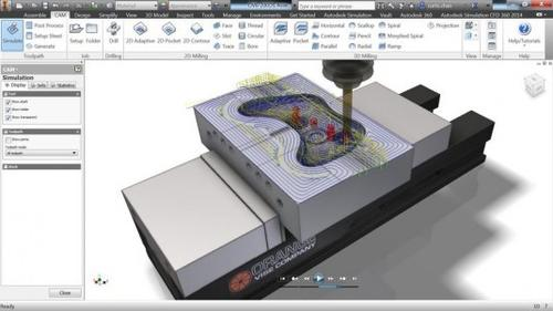 Inventor HSM 2015 interface.   (Source: Autodesk)