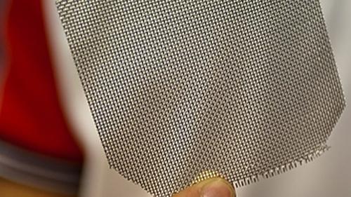 MIT-developed mesh for fog harvesting.   (Source: MIT)