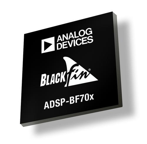 Analog Devices' ADSP-BF70x digital signal processor family offers twice the performance of competitors' devices using the same amount of power.   (Source: Analog Devices)