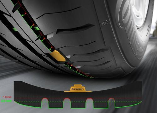 Continental tread depth sensor conceptualization.(Source: Continental)