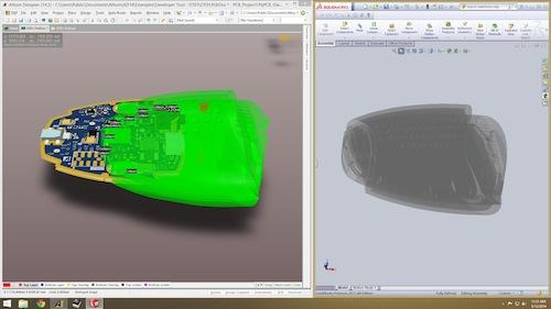 Modern ECAD/MCAD integration allows for native support of popular MCAD tools such as SolidWorks inside of the 3D PCB design environment eliminating the need for import/export.