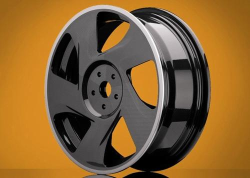 SABIC and Kringlan Composites are developing a thermoplastic carbon composite wheel with a matrix based on SABIC's ULTEM resin. Kringlan says its process is geared toward high volumes, short cycle times, and in-house recycling of production waste and end-of-life materials.(Source: Kringlan Composites)