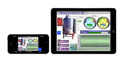 Figure 2. SCADA with HTML5 support enables users quick access to correctly sized screens regardless of the device used.