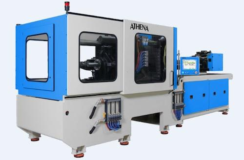 Pre-engineered machine options while still keeping assembly and service of packaging machines simple and efficient was a key design objective for Athena Automation. Its new control system had to support distributed I/O, object-oriented programming, the latest servo technology, and support for both hydraulic and electrical axes.   (Source: B+R Automation)