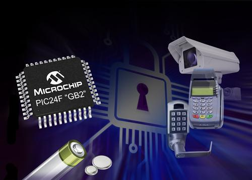 Microchip's PIC24F GB2 family of microcontrollers is targeted at low-power sensor hubs and portable applications. (Source: Microchip Technology)