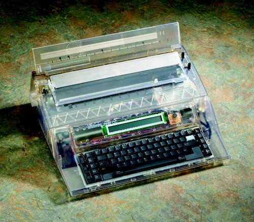 Swintec Corp. still makes and sells typewriters. Its 2640CC is a word processor offering up to 128K of memory. (Source: Swintec Corp.)