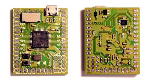 Micro Python board.   (Source: Kickstarter)