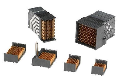 Impel backplane headers from Molex, (vertical headers 3-6-pair; co-planar RAM and OD RAM). Headers are part of backplane assemblies.   (Source: Molex)