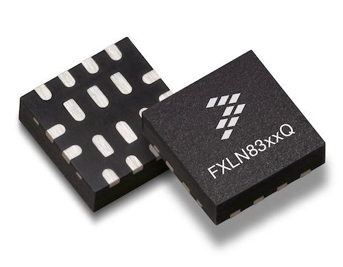 Housed in a 3 x 3 mm package, Freescale's FXLN83xxQ accelerometer could hit a sweet spot for designers of industrial products, particularly those associated with the Internet of Things.  (Source: Freescale Semiconductor, Inc.)