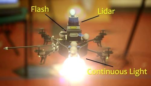 The MIT Litrobot photographs a dynamic subject with two light sources.   (Source: MIT)