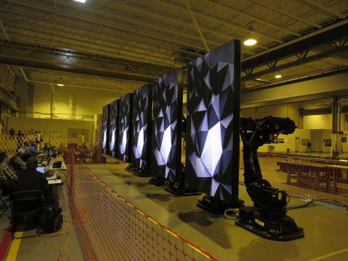 The RoboScreens on the Quantum of the Seas were tested at ABB's Auburn Hills, Mich., facility prior to being shipped to Meyer Werft shipbuilding in Papenburg, Germany.