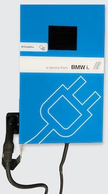 BMW i DC Fast Chargers, developed with Bosch Automotive, are half the size of current DC Combo fast chargers and more affordable, BMW says.   (Source: BMW AG)