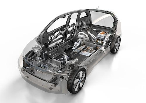 BMW's i3 will use the new i DC Fast Charger. It offers an EPA-rated all-electric range of 81 miles.   (Source: BMW AG)