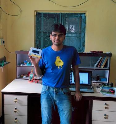 Debasish Dutta's gadget is used to maintain the proper charging voltage on the battery.